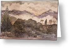 Morning Mist Pasadena Greeting Card by Nancy Kane Chapman