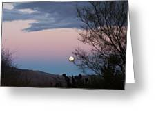 Morning Moon Greeting Card by Christine Drake