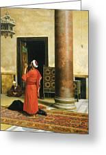Morning Prayers Greeting Card by Ludwig Deutsch