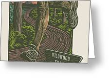 Morning Run on The Wildwood Trail Greeting Card by Mitch Frey