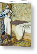 Morning Toilet Greeting Card by Edgar Degas
