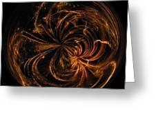 Morphed Art Globe 40 Greeting Card by Rhonda Barrett