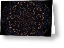 Morphed Art Globes 14 Greeting Card by Rhonda Barrett