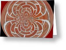 Morphed Art Globes 17 Greeting Card by Rhonda Barrett