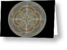 Morphed Art Globes 25 Greeting Card by Rhonda Barrett