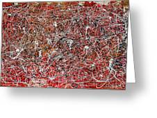 Morris Louis Meets Jackson Pollock Greeting Card by Alexandra Jordankova