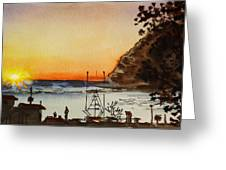 Morro Bay - California Sketchbook Project Greeting Card by Irina Sztukowski
