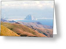 Morro Bay Rock Vista Overlooking Highway 46 Paso Robles California Greeting Card by Artist and Photographer Laura Wrede