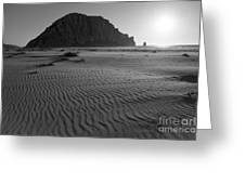 Morro Rock Silhouette Greeting Card by Terry Garvin