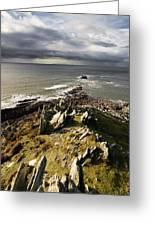 Morte Point In North Devon Greeting Card by Pete Hemington