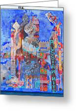 Moscow Nite Greeting Card by Norma Malerich