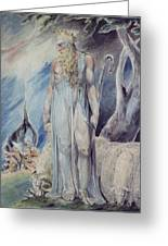 Moses And The Burning Bush Greeting Card by William Blake