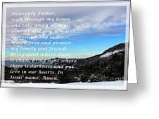Most Powerful Prayer With Winter Scene Greeting Card by Barbara Griffin