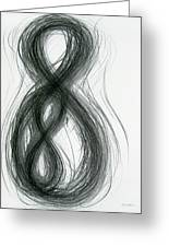 Mother And Child Figure-eight Study Greeting Card by Michael Morgan