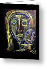 Mother And Child Greeting Card by Mimulux patricia no