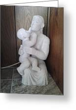 Mother And Son Greeting Card by Edwin A Ziarko