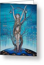 Mother Earth Greeting Card by Krystyna Spink