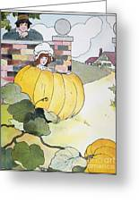 Mother Goose: Pumpkin Greeting Card by Granger