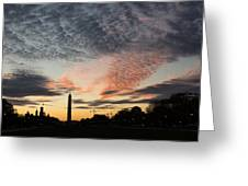 Mother Nature Painted The Sky Over Washington D C Spectacular Greeting Card by Georgia Mizuleva