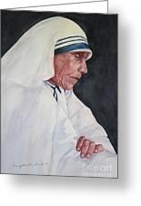 Mother Teresa Greeting Card by Kyong Burke