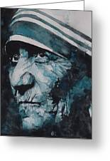 Mother Teresa Greeting Card by Paul Lovering