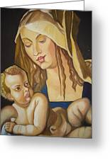 Mother With Her Child Greeting Card by Prasenjit Dhar