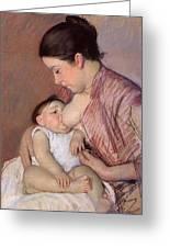 Motherhood Greeting Card by Marry Cassatt
