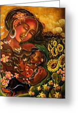 Mothering Myself Greeting Card by Crystal Charlotte Easton