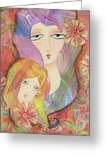 Mothers Love Greeting Card by Joann Loftus