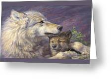 Mother's Love Greeting Card by Lucie Bilodeau