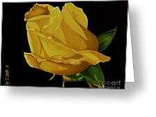 Mother's Yellow Rose Greeting Card by Cory Still
