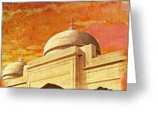 Moti Masjid Greeting Card by Catf