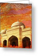 Moti Masjid Greeting Card by Catf