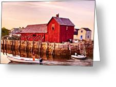 Motif Number One Rockport Massachusetts Greeting Card by Bob and Nadine Johnston