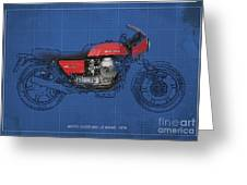 Moto Guzzi 850 Le Mans 1976 Greeting Card by Pablo Franchi