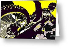 Motocross Greeting Card by Chris Butler
