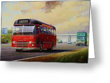 Motorway Express 1959. Greeting Card by Mike  Jeffries