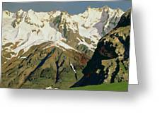 Mount Blanc Mountains Greeting Card by Isaak Ilyich Levitan