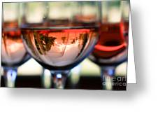 Mount Hood In A Wine Glass Greeting Card by Cari Gesch