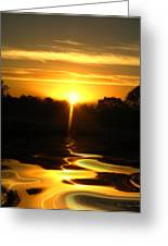 Mount Lassen Sunrise Gold Greeting Card by Joyce Dickens