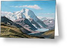 Mount Robson From The Air    Greeting Card by Paul Krapf