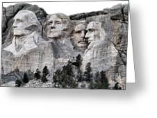 Mount Rushmore National Memorial Greeting Card by Patricia Januszkiewicz
