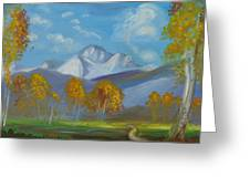 Mount Sneffels San Juan Mountains Colorado Greeting Card by Patricia Kimsey Bollinger