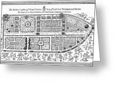 Mount Vernon: Garden Greeting Card by Granger