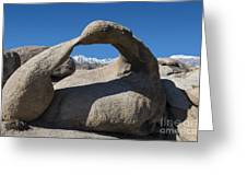 Mount Whitney Through Mobius Arch Greeting Card by Sandra Bronstein