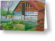 Mountain Barn Greeting Card by William Killen