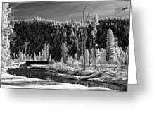 Mountain Bridge Greeting Card by Paul Bartoszek