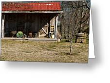 Mountain Cabin In Tennessee 3 Greeting Card by Douglas Barnett