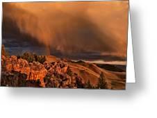 Mountain Drama Greeting Card by Leland D Howard