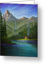 Mountain Haven Greeting Card by C Steele
